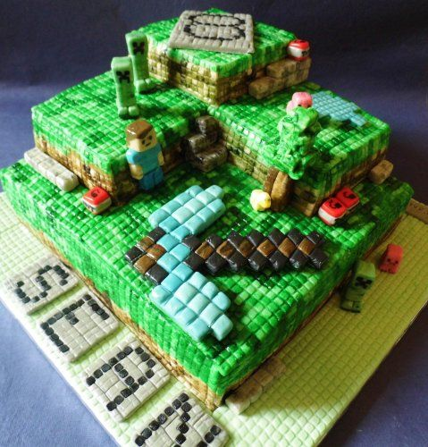 Minecraft Cake Decorations Uk : Minecraft cake Party ideas - minecraft Pinterest ...