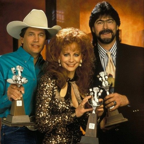 George With Reba Mcentire And Randy Owen Of Alabama In 1993