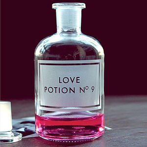Etched 'Love Potion No9' Apothecary Bottle - best valentine's gifts for her