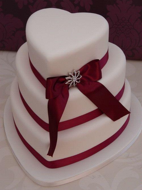 red  wedding cake | Download red-velvet-wedding-cake-heart