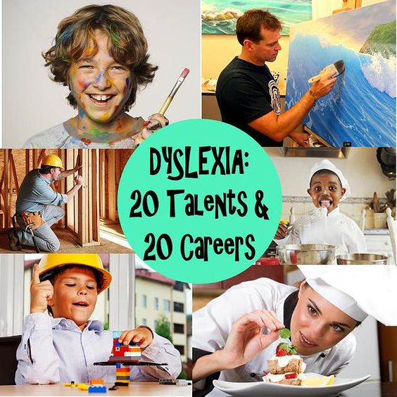 What careers are suitable for some people who are good at math but is dyslexic?