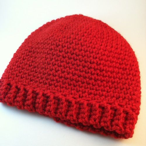 Crochet Hat Patterns For One Year Old : From Aura: Single Crochet Beanie Suitable for 3 to 5 year ...