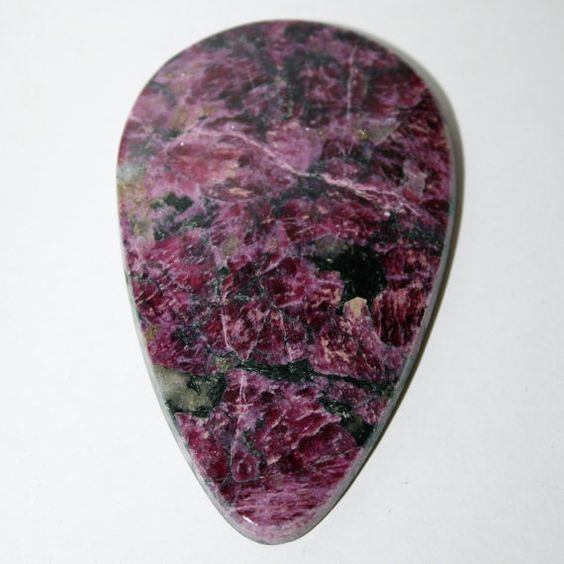 Eudialyte Cabochon, Russian Gemstone   58x36x5 mm FREE SHIPPING