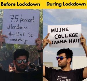 College Students Before Lockdown Vs During Lockdown Exam Quotes Funny Fun Quotes Funny Funny Cartoons Jokes