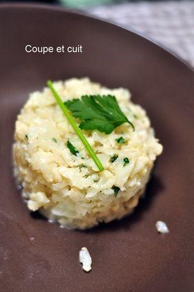 Risotto de chou-fleur Risotto sans riz, qui est remplacé par le chou-fleur