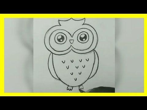 كيفية رسم بومة باسهل طريقة Draw An Owl Youtube Owls Drawing Drawings Owl