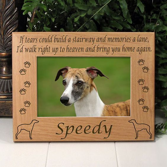 Memorial Wippet Dog Picture Frame