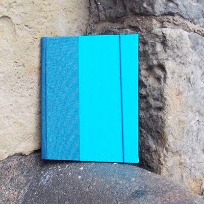 Collegeblockhülle DIN A5 Blau Türkis