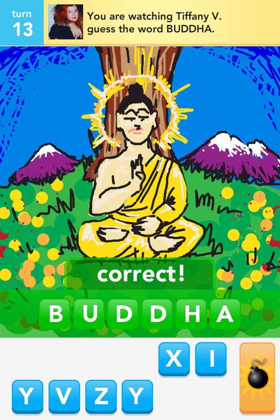 My Draw Something Buddha