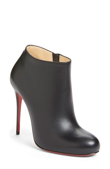 christian louboutin round-toe platforms boots