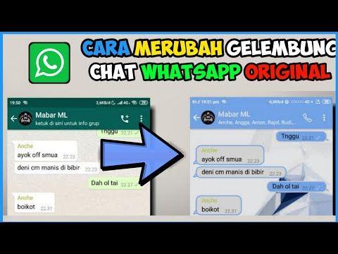 Cara Merubah Gelembung Chat Whatsapp Original Youtube Gelembung