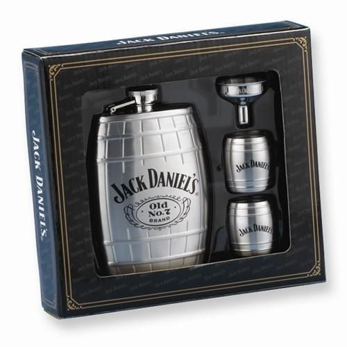 7 whiskey Stainless Steel 6oz Flask Barrel Bar Alcohol NEW Jack Daniels Old No