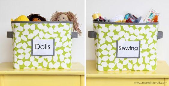 caixas organizadoras - pap bem detalhado. Solução fácil e bonita.