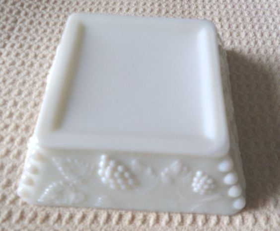 Westmoreland Grape Opaque White Milk Glass Ashtray Westmoreland  - Looks like a good soap dish to me