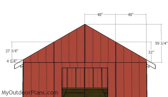 16x16 Gable Shed Roof Plans Myoutdoorplans Free Woodworking Plans And Projects Diy Shed Wooden Playhouse Pergola Bbq Roof Plan Shed Diy Shed