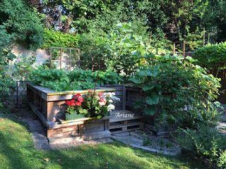 Strick-Blume 's ❀: Unsere Hochbeete aus Paletten, dritter Post . . .: