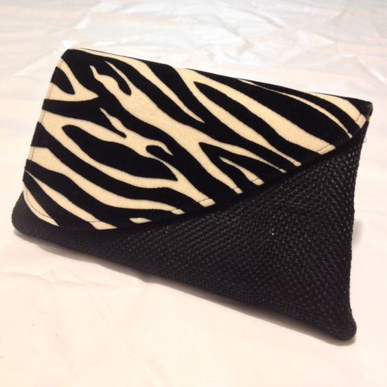 Black and White African print Clutch by ImaraBeads on Etsy, $30.00