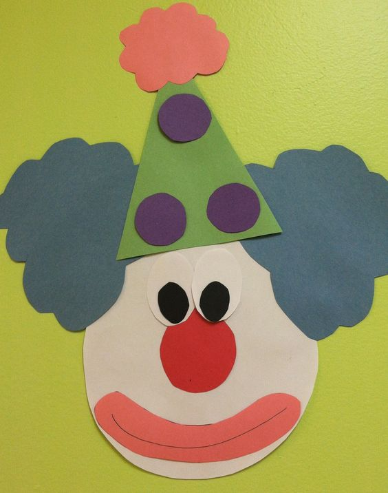 Clown Face Decoration or craft for preschool craft not Toddlers- circus theme fun!
