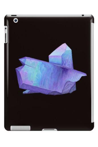 Purple crystal amethyst iPad case and skin.  Shop now: http://www.redbubble.com/people/marianamello/works/23611054-purple-crystal-amethyst-angel-aura-quartz-geode?asc=u&p=ipad-case&rel=carousel