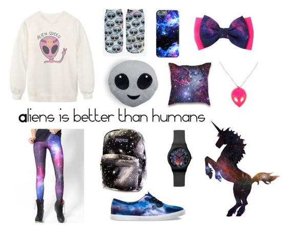 Aliens is better than humans… by christina-lavdal on Polyvore featuring polyvore, fashion, style, Chicnova Fashion, WithChic, Vans, May28th, women's clothing, women's fashion, women, female, woman, misses and juniors