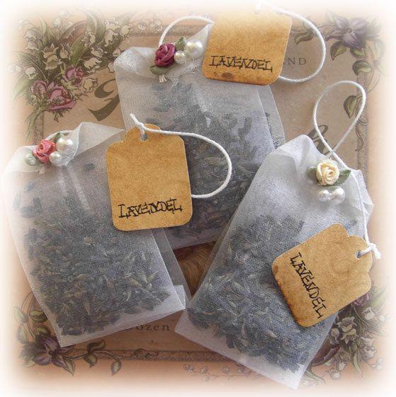 Lavendel-Teebeutel-Duftsäckchen von wonnimania auf DaWanda.com