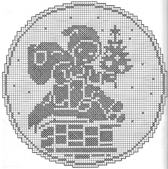 Free Filet Crochet Patterns For Christmas : filet crochet pattern, christmas Christmas filet and ...