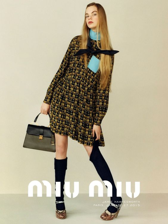 Miu Miu Pre-Fall 2015 Campaign Photography: Jamie Hawkesworth  Model: Estella Boersma