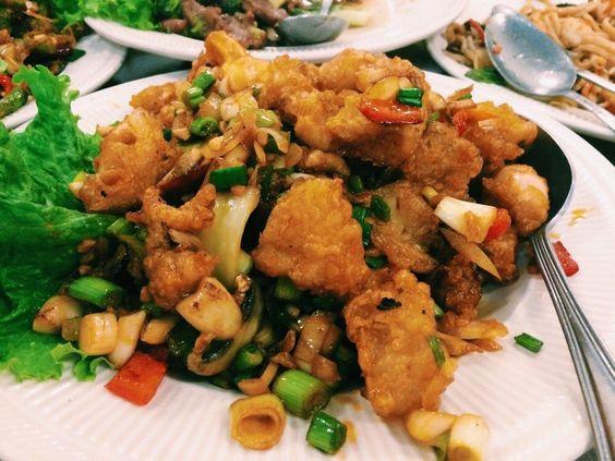 San Wang Restaurant - San Francisco, CA, United States. Dry fried calamari