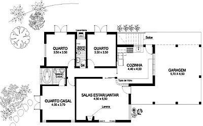 1 sala de estar com sala de jantar, 2 quartos, 1 cozinha, 1 banheiro e 1 garagem