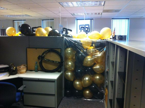 50th birthday office cube prank office cubicle fun