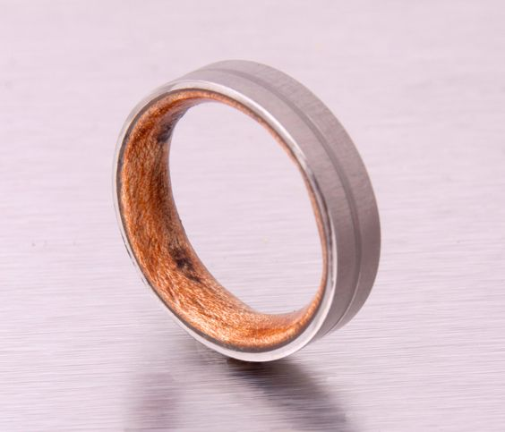 Mens Wood Wedding Band with Titanium Ring by aboutjewelry on Etsy https://www.etsy.com/listing/176142556/mens-wood-wedding-band-with-titanium