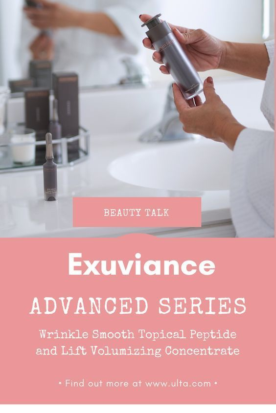 Ad Exuviance Released 2 Skincare Products In Their Advanced Series Collection Ultabeauty Wrinkle Smooth Topical Peptide A Exuviance Beauty Talk Ulta Beauty