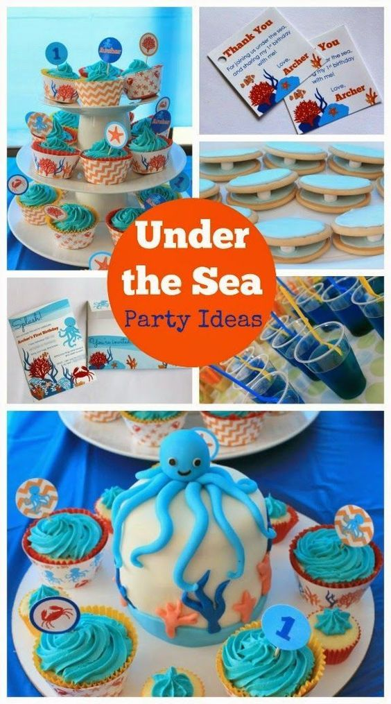 Under The Sea Ocean Birthday Party Ideas Ocean Birthday Party