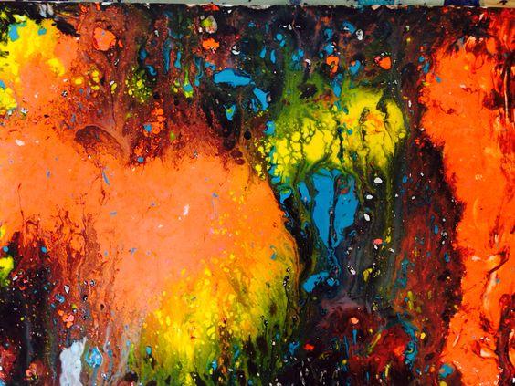 Contrast- pouring paint