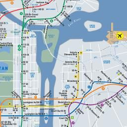 Late Night Subway Map