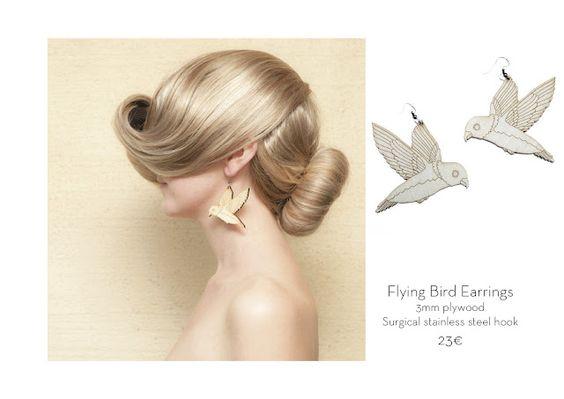 Poola Kataryna: Flying birds earrings