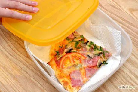 Guardar y recalentar Pizza