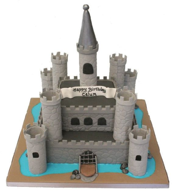 Toy Castles For Boys : Castle birthday cakes gum paste and chocolate on