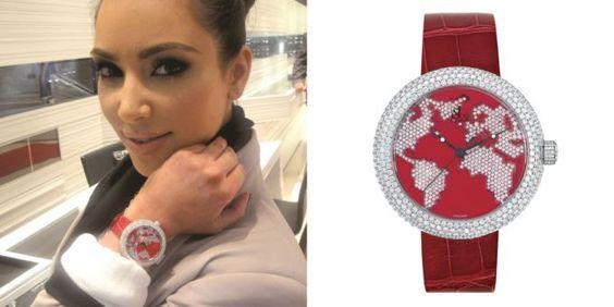 Kim Kardashian West with Jacob & Co. Brilliant Collection Watch