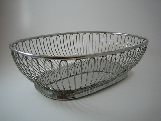 Kitchen countertop accesory. Not limited to fruit. Italian Stainless Steel Fruit Basket