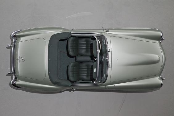 Mercedes Benz 190 SL draufsicht offen