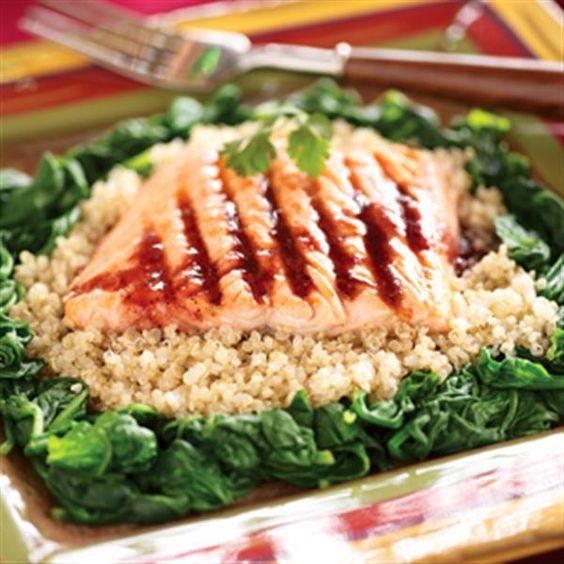 Seared Salmon with Blackberry-Chipotle Glaze