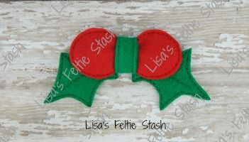 Holly and Leaves 3D Bow