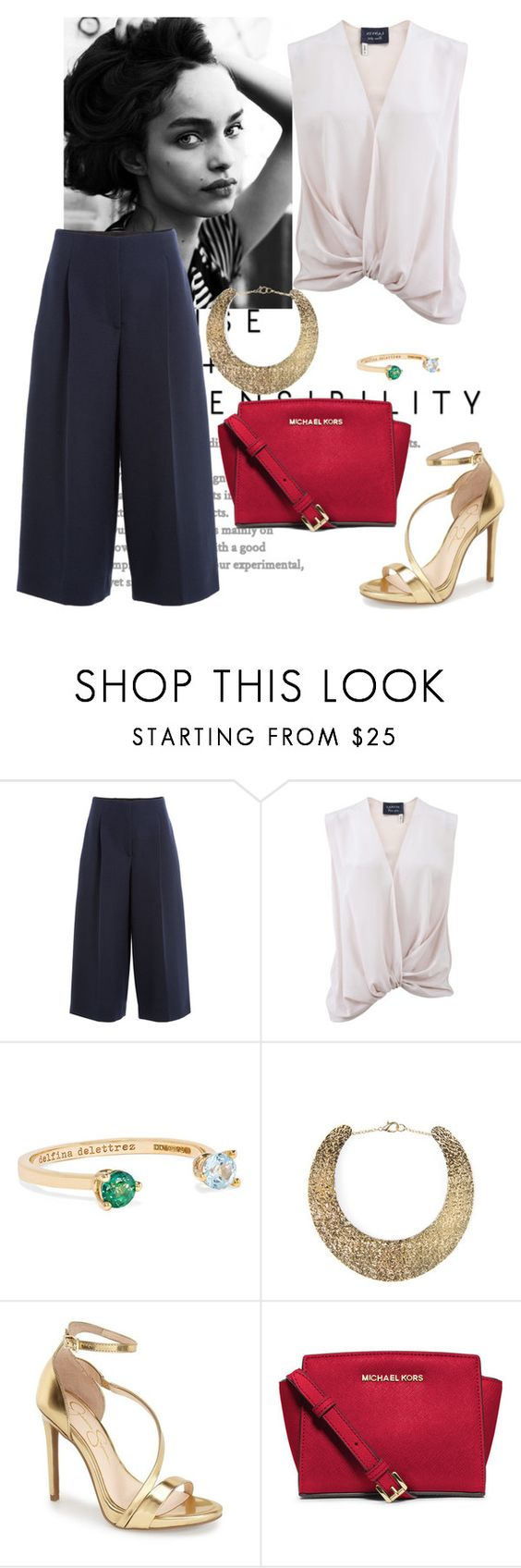 """Sans titre #932"" by alika14 ❤ liked on Polyvore featuring Valentino, Lanvin, Delfina Delettrez, MANGO, Jessica Simpson and MICHAEL Michael Kors"
