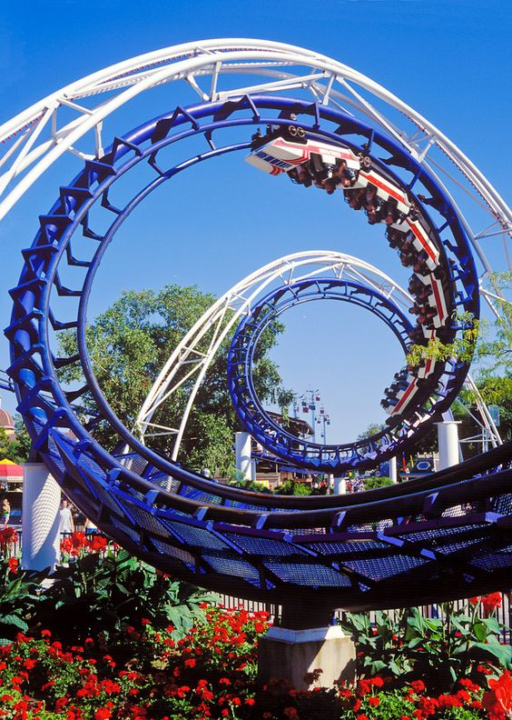 "The Classic Corkscrew Midway Shot!   ""Corkscrew - Cedar Point"":"