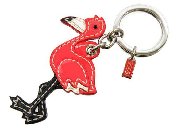 Coach Flamingo Keyfob