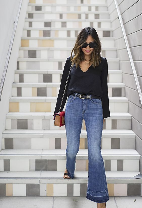 aimee_song_of_style_7_for_all_mankind_flare_jeans_two_songs_deep_v_blouse