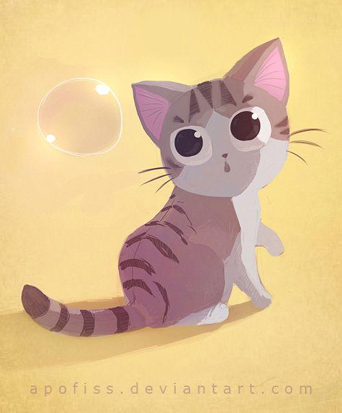Fofos Gatinhos Ilustrados Por Rihards Donskis Arte Com Gatos