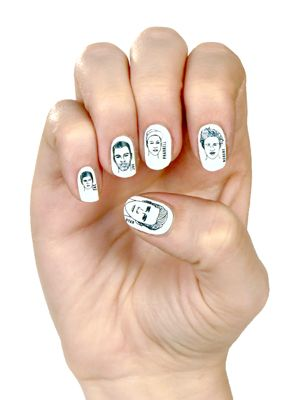 Hey girl, Ryan Gosling will only accept your offering of true love if you wear his face on your fingernails.