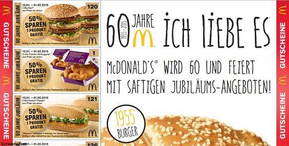 Nach der letzten Gutscheinaktion bei McDonalds, und der Monopoly-Aktion, gibt es derzeit wieder Gutscheine bei der Fast Food Kette. Die Gutscheine sind in